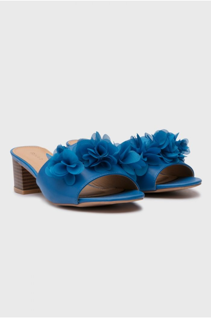 Heeled open toes Sandal blue