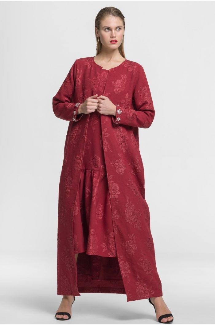 Beaded Sleeve Abaya