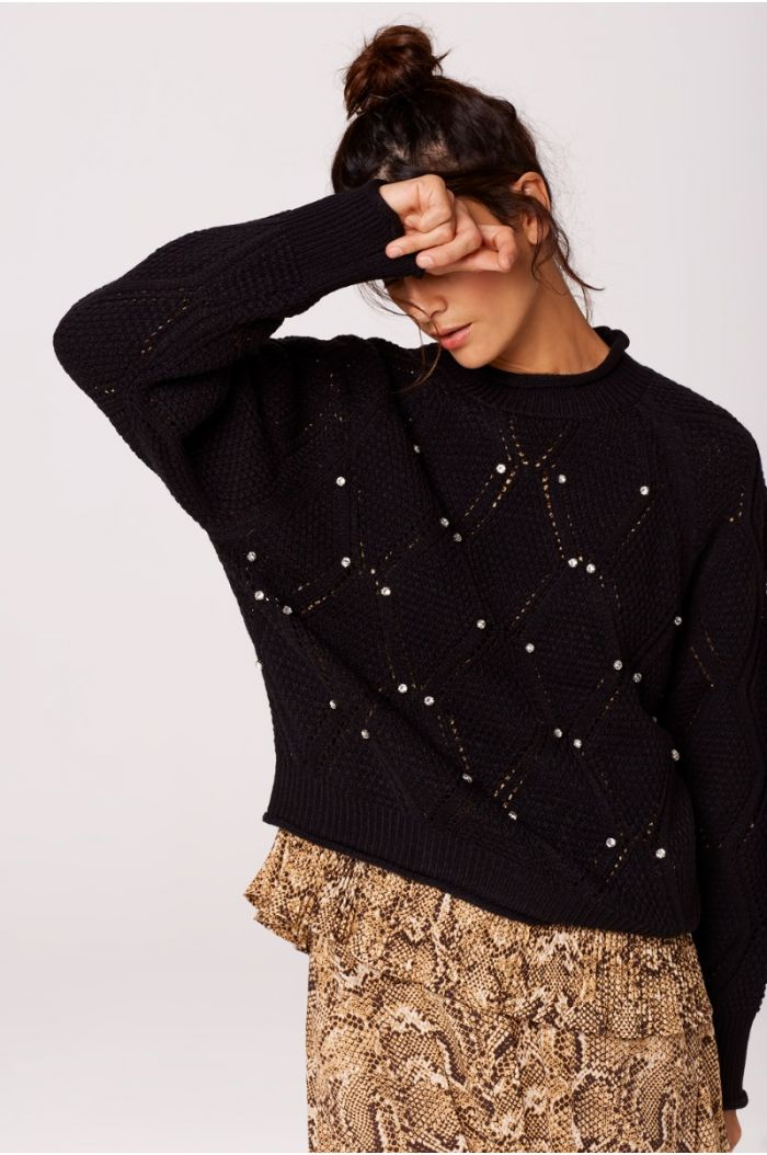 Knitted Patterned Pullover