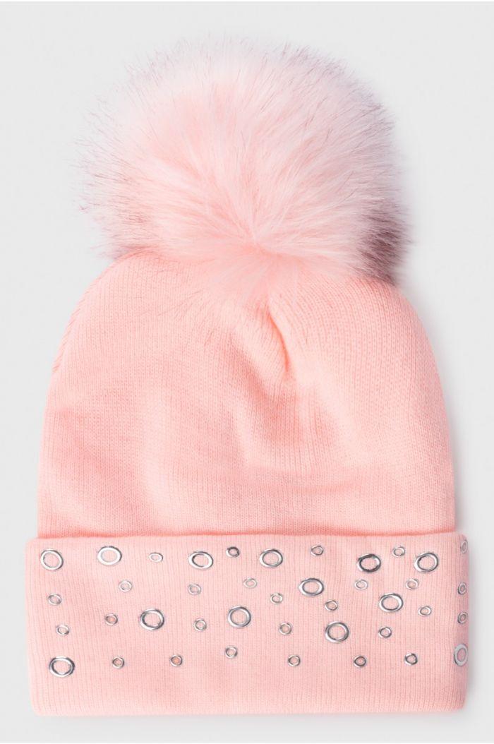 Woolen hat with pom pom
