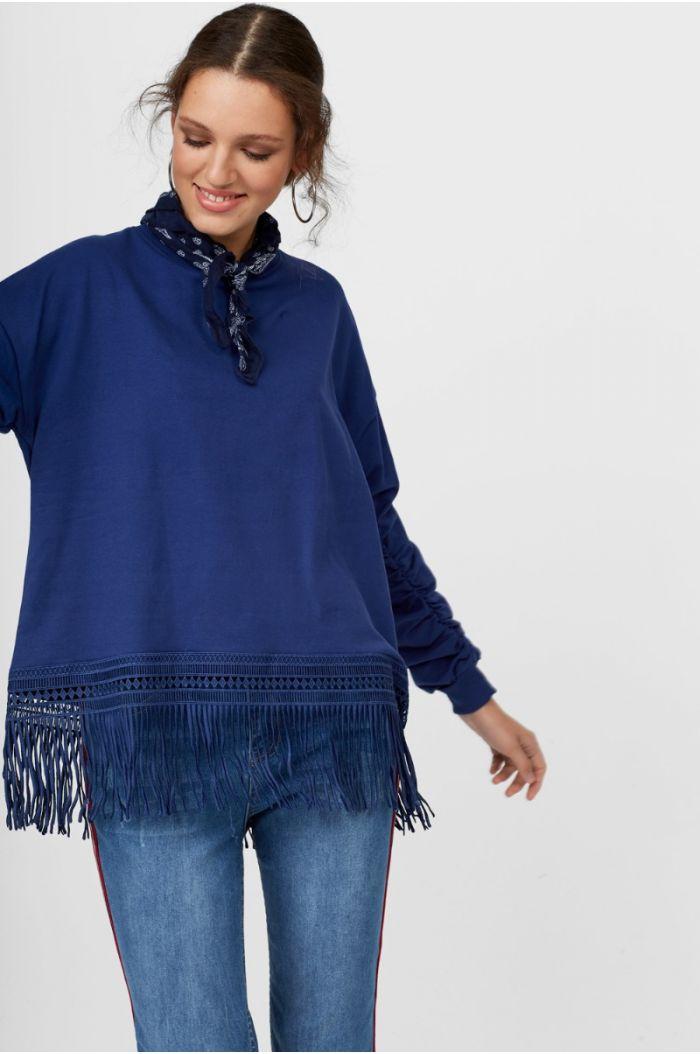 sweatshirt with Fringes