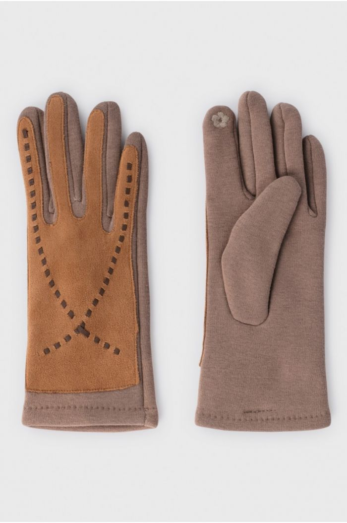 Suede and Fleece Gloves