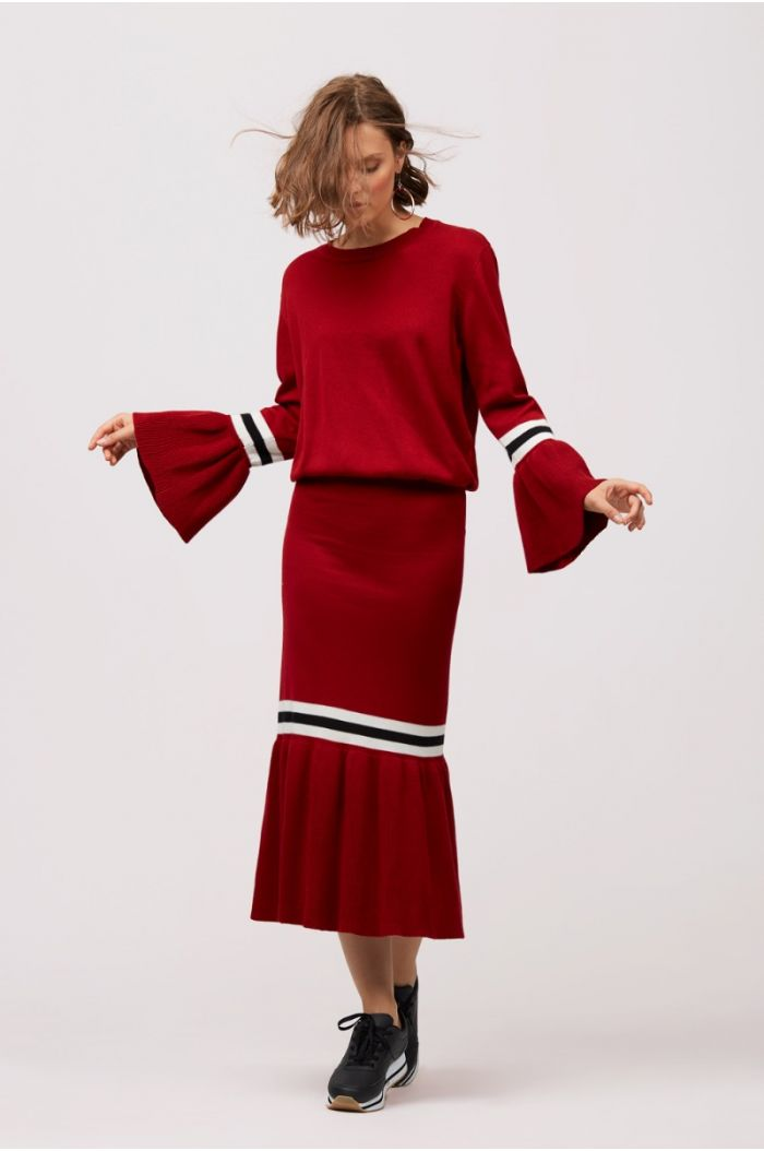 Frilled Hem Fleece Skirt