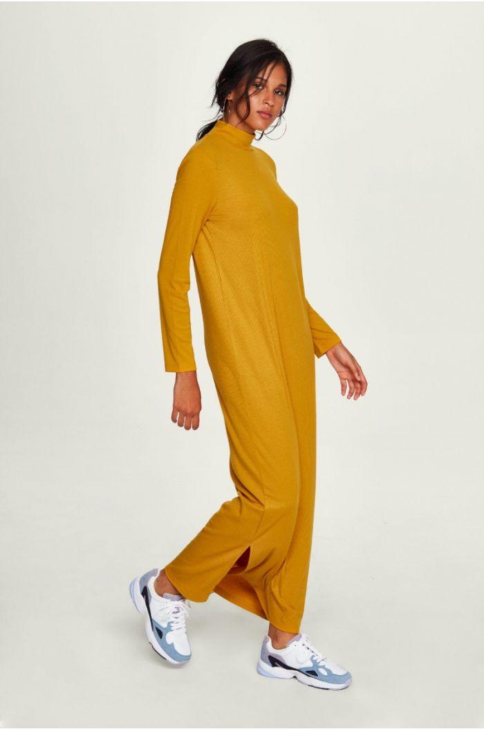 Maxi High - Neck Dress