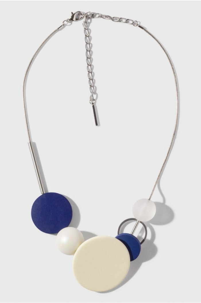 Necklace with multi shaped pendants