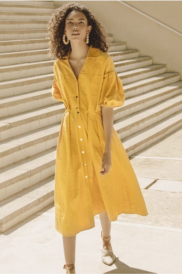 Midi Buttons Up Dress