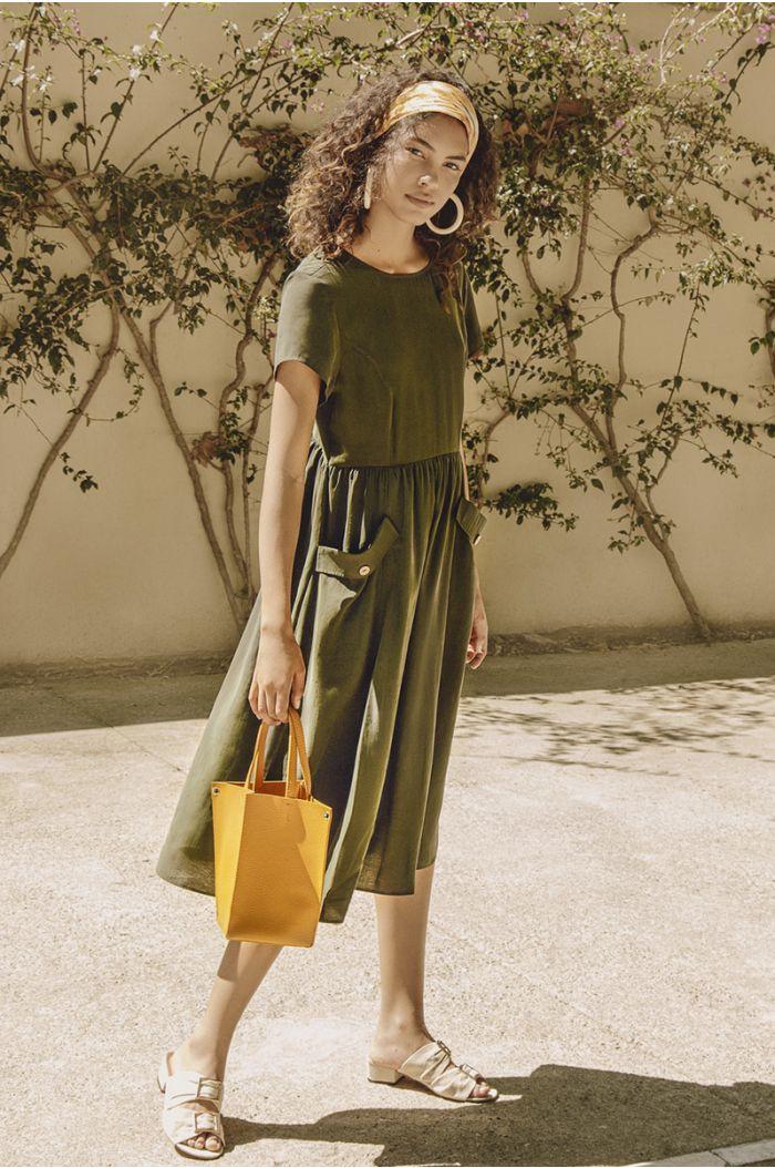 Midi Dress with Pockets