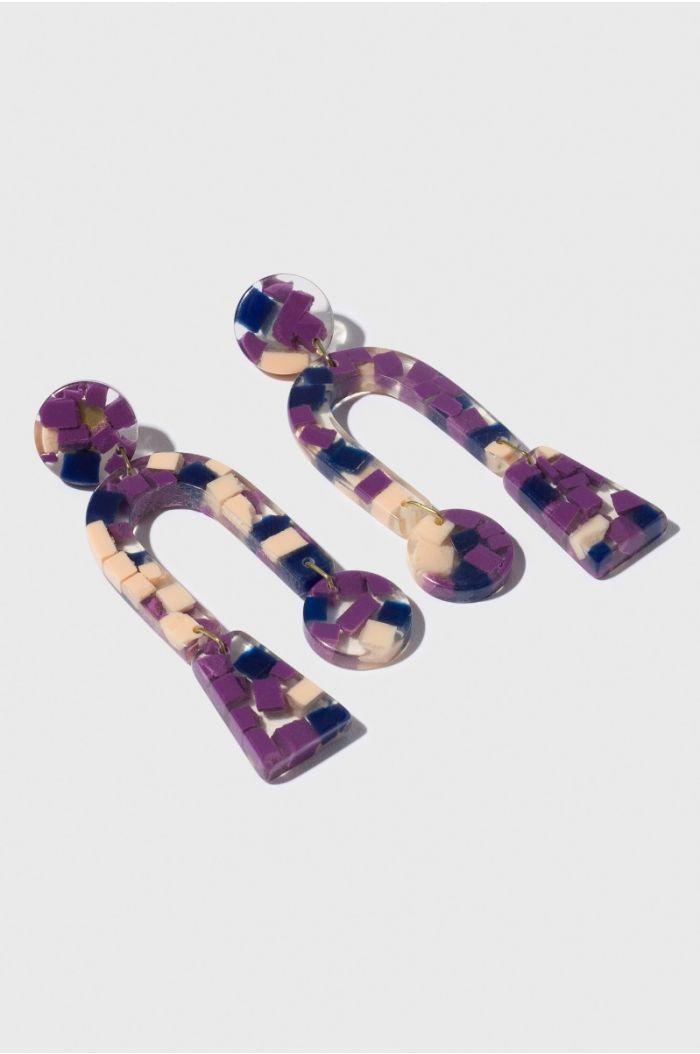 marbled Loop earring