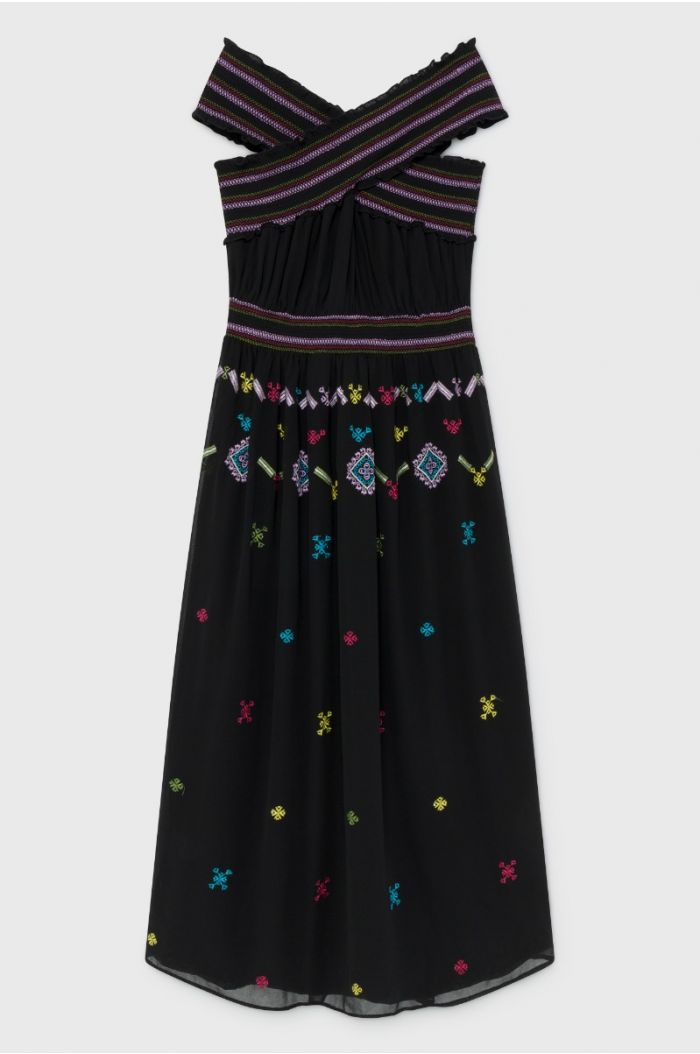 Embroidery Tape Dress