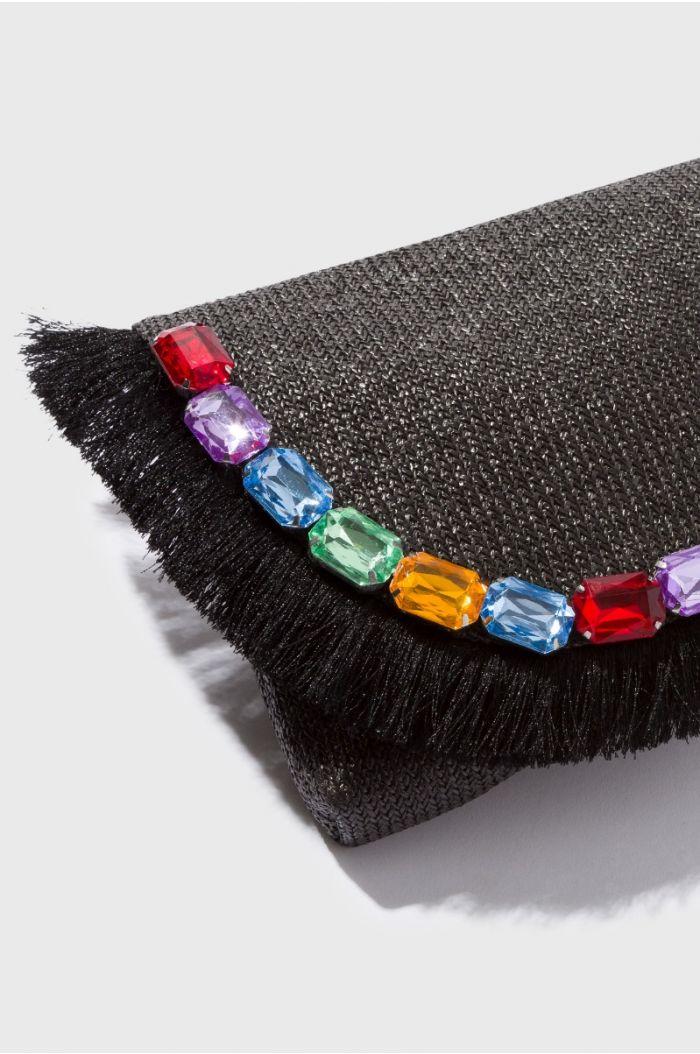 Fringes and Stones Shoulder Bag
