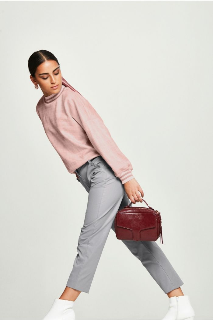 straight Pants with Frills