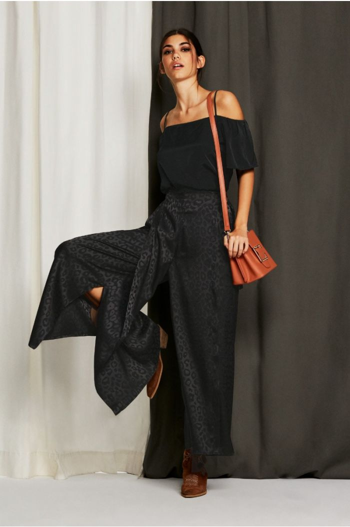 Wide Leg Pants with Slits