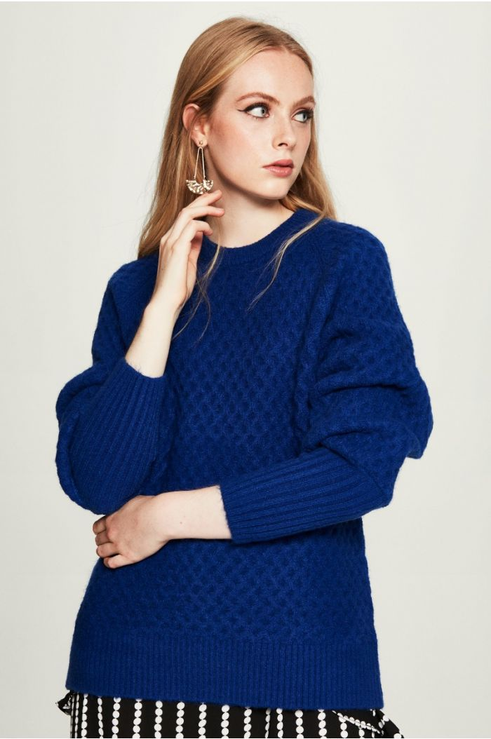 Textured Woven Pullover
