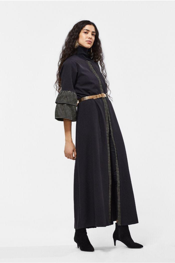 Ruffled Sleeves Abaya