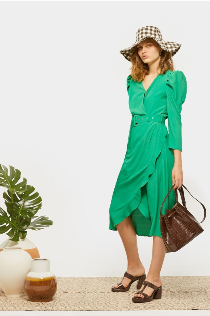 Asymetric wrap dress