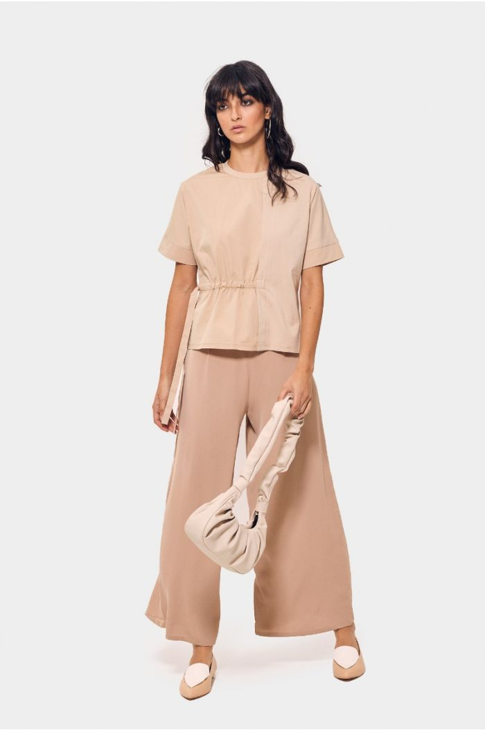 Flowy pants with pleats