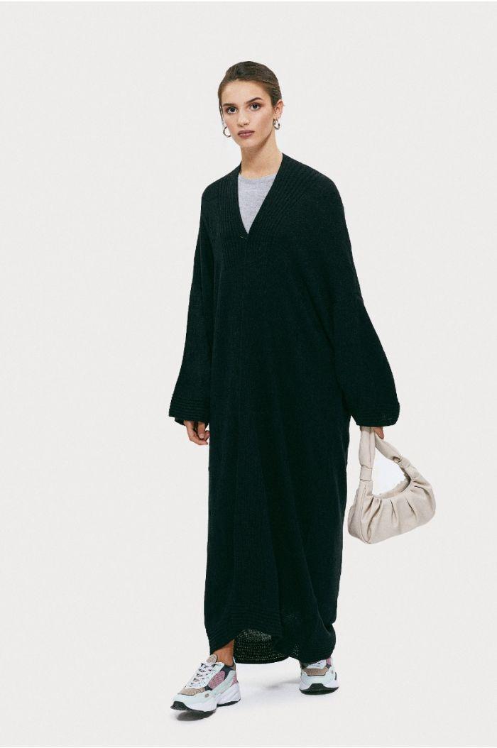 Knitted textured Abaya