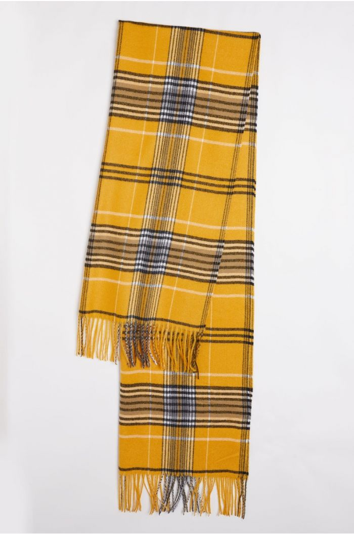 Ceckered winter scarf