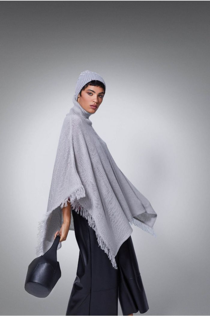 Knitted shawl sweater