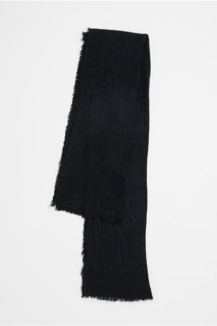 Plain knitted scarf
