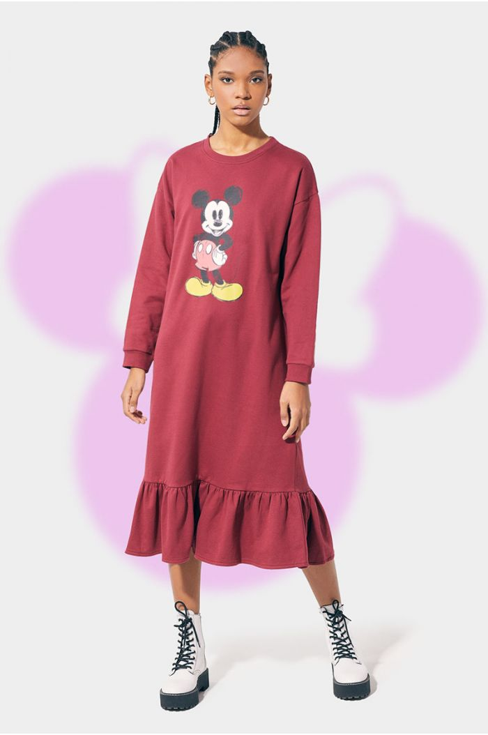 Tie dye dress with Mickey print
