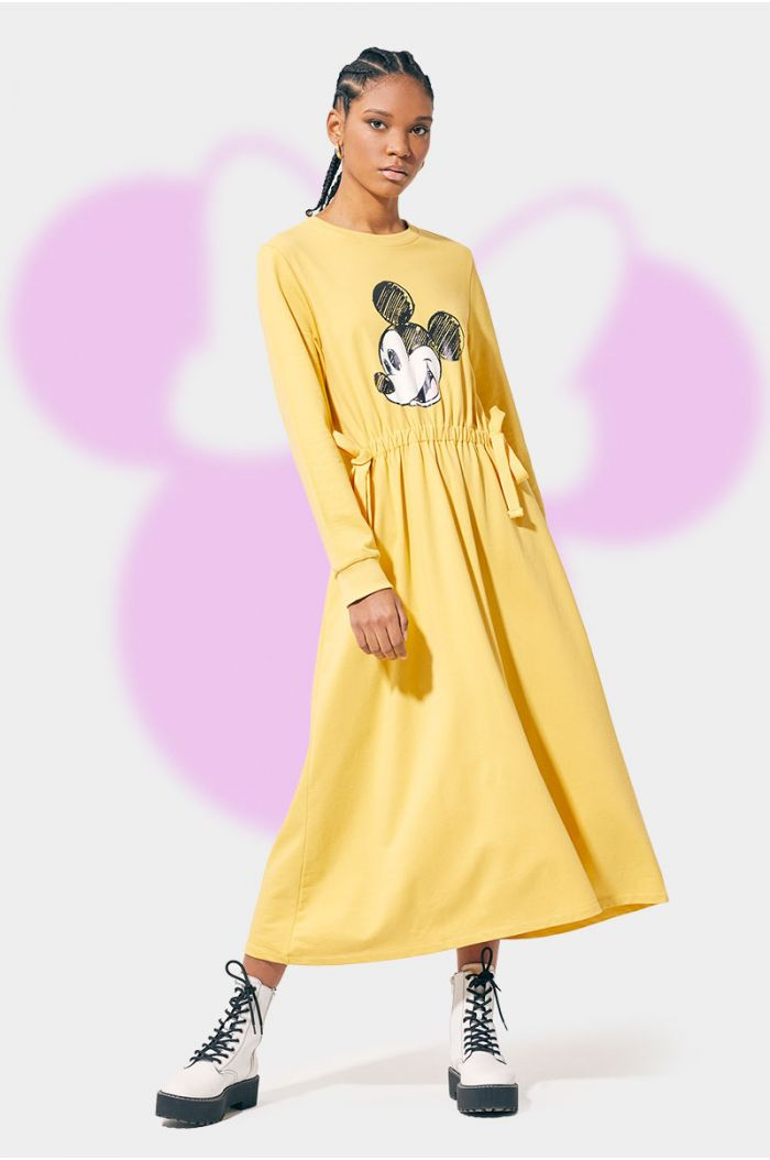 Casual dress with Mickey print