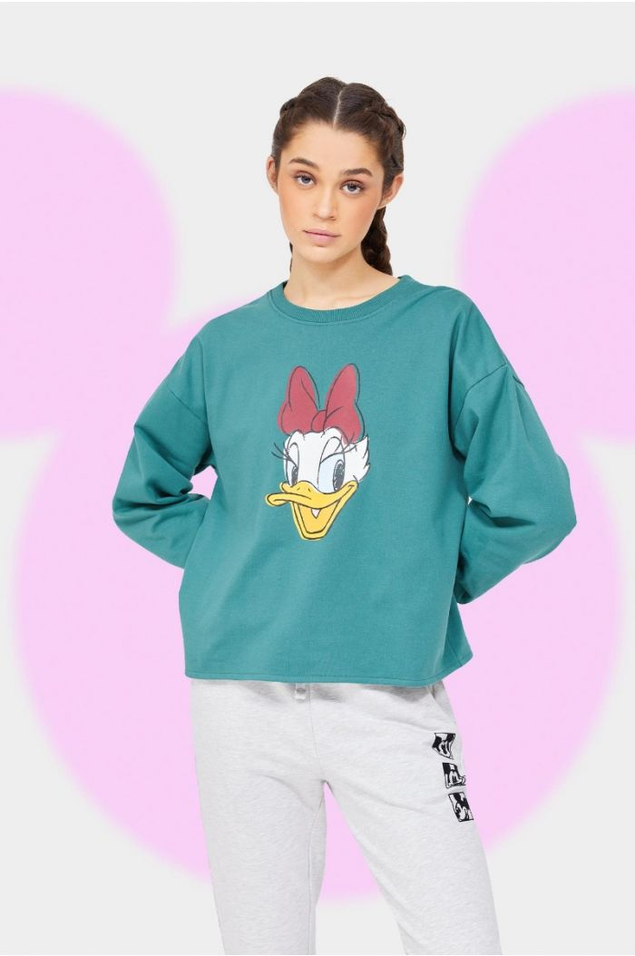 Sweatshirt with Mickey print