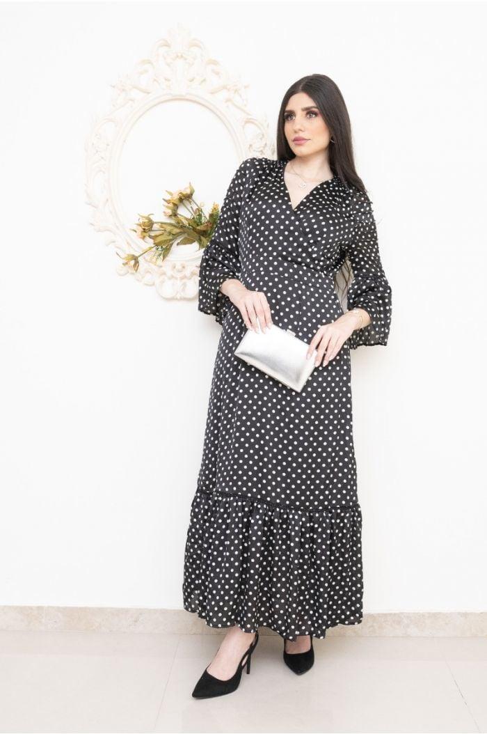 Polkadot dress with ruffles
