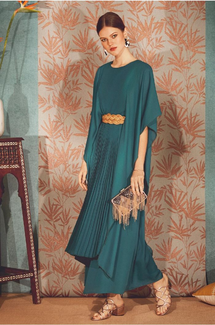 Pleated Detailing Maxi Dress